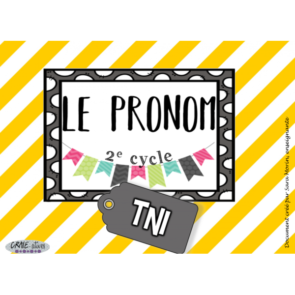 Classes de mots - Pronom