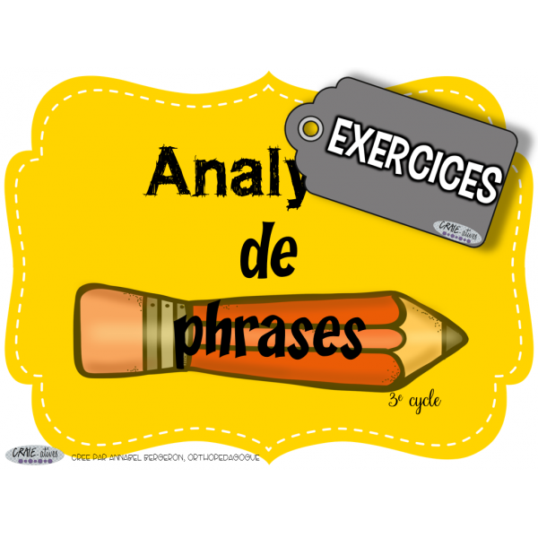 Phrase - Analyse de phrases